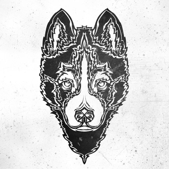 Dog black  Art Print