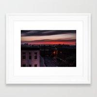 Fire in the Sky V.2 Framed Art Print