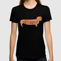 Secrets of the Dachshund  Womens Fitted Tee Black SMALL