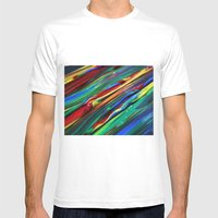 Paint Mens Fitted Tee White SMALL