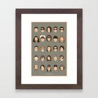 25 FACES OF TOM C Framed Art Print