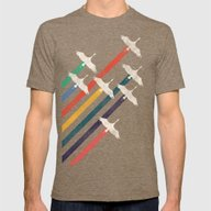 The Cranes Mens Fitted Tee Tri-Coffee SMALL