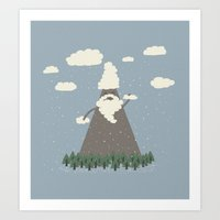 Playing With Cloud Suds Art Print