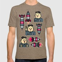 Kim Jong Un Rockets Mens Fitted Tee Tri-Coffee SMALL