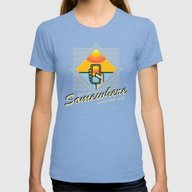 WARM WITH WI-FI Womens Fitted Tee Tri-Blue SMALL