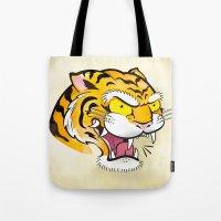 Tiger Tattoo Flash Tote Bag