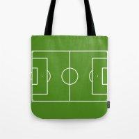Football field fun design soccer field Tote Bag