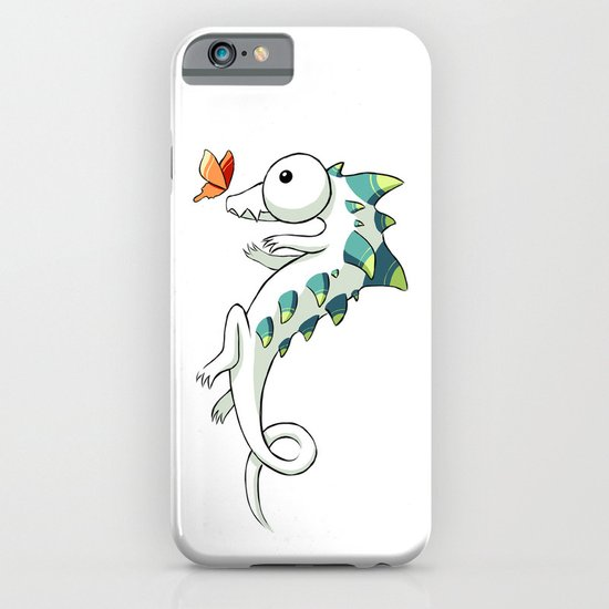 Crocodile and a Butterfly iPhone & iPod Case