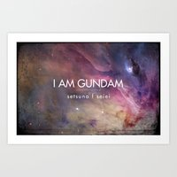 Gundam Retro Space 2 Art Print