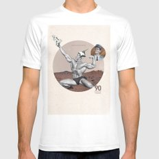 Arnie - Total Recall Mens Fitted Tee White SMALL
