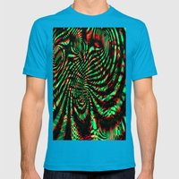 Blind Trip A Mens Fitted Tee Teal SMALL