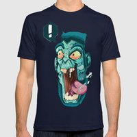 Zombie. Mens Fitted Tee Navy SMALL