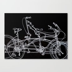 White bikes Canvas Print