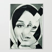 Frau mit Dreieck 1 Canvas Print