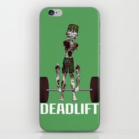 Crossfit Zombie by RonkyTonk doing Deadlift iPhone & iPod Skin