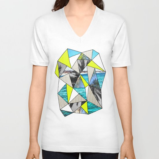 PALM POINT V-neck T-shirt