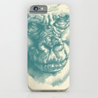 Gorilla Sketch In Blue iPhone 6 Slim Case