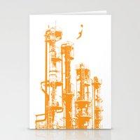Factory Jump (orange) Stationery Cards