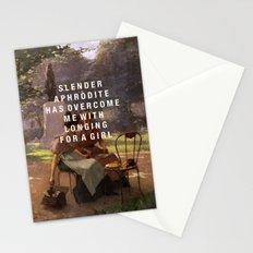 slender aphrodite Stationery Cards