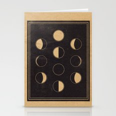 Lunar Phase Chart Imagery Stationery Cards