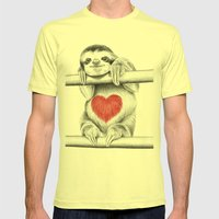 If Care Bears Were Sloth… Mens Fitted Tee Lemon SMALL