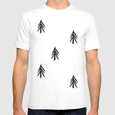 nordic fir trees Mens Fitted Tee White SMALL