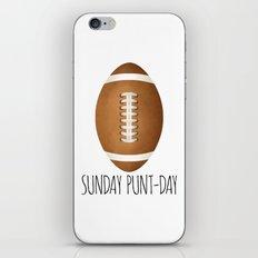 Sunday Punt-day iPhone & iPod Skin