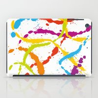 Splattered Rainbow [WHIT… iPad Case