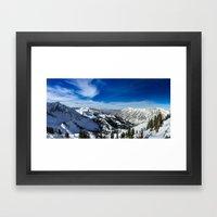 Ski Vista Framed Art Print
