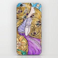 Rapunzel Art Nouveau White Background iPhone & iPod Skin