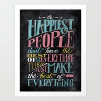 THE HAPPIEST PEOPLE... Art Print
