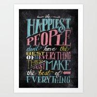 THE HAPPIEST PEOPLE... Art Print
