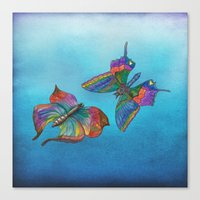 Butterflies and Blue Skies Canvas Print