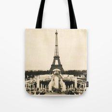 Eiffel Tower - Vintage Post card Tote Bag