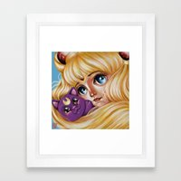 Sailor Moon And Luna Framed Art Print