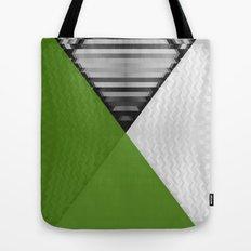 Black White and Grassy Green Tote Bag