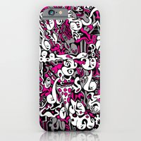 iPhone & iPod Case featuring Ghost Doodles by MOONGUTS (Kyle Coughlin)