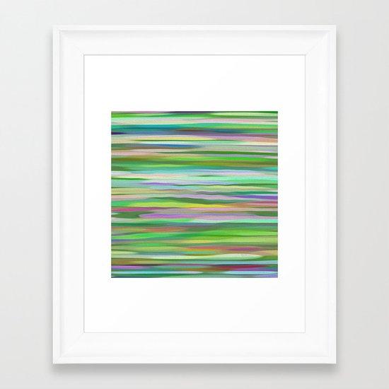 Swimming Stripes Framed Art Print