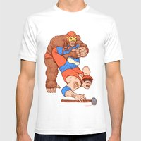 Gorilla Clutch Mens Fitted Tee White SMALL