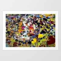 Palette. In the original sense of the word. Art Print