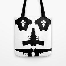 Pistol Face Tote Bag