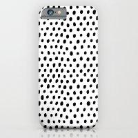 Polka dot rain iPhone 6 Slim Case