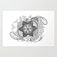 Turn black and white Art Print