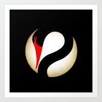 Black Swan Logo Art Print