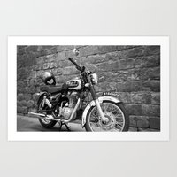 Motorbike. Art Print