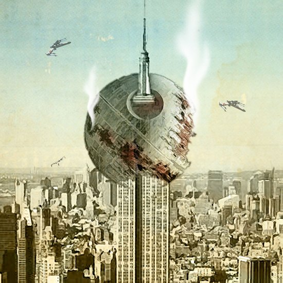 impaled on the empire Canvas Print
