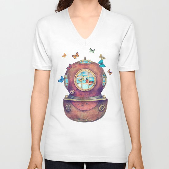 Inner Space V-neck T-shirt