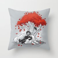 Dreaming of a Quiet Winter Throw Pillow