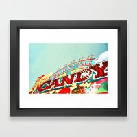 Carnival Candy Framed Art Print
