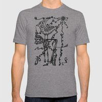 Doodlebird Mens Fitted Tee Tri-Grey SMALL